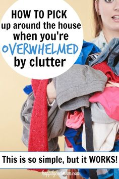 1 phrase to say to yourself when you're overwhelmed by clutter.