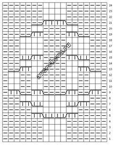схема узора 636 single cable rope