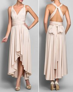 Sheath/Column Asymmetrical Jersey Convertible Dress (love it minus the bow)