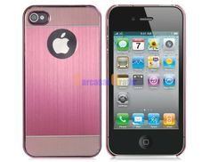 Color Contrast Metal Protective Case for iPhone 4/4S (Pink)