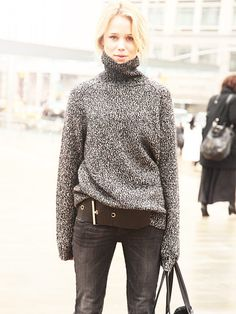 street style: blonds look amazing in grey!!