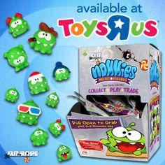 Micro-Om Nom, Micro-Awesome! Mini, soft, squishy Nommies in tons of different - Cut the Rope