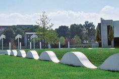 Bike Hills at the Garden of Remembrance, Dani Karavan, 1999