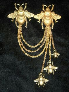 Joseff Hollywood Bee Chatelaine Brooch