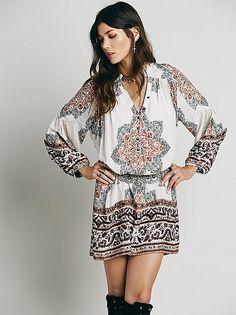 Moonphase printed mini dress #freepeople