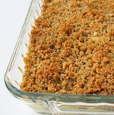 Poppy seed chicken casserole, yummy comfort food.  The poppy seeds add a nice crunch!