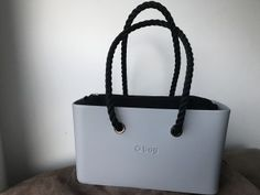 O City licht grijs - Nylon binnentas Naturale - Long Rope handles Zwart O Bag, Purses, Clock, Sun, Tattoo, City, Style, Fashion, Totes