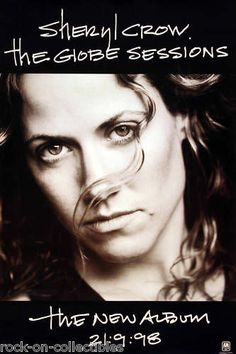SHERYL CROW 1998 BLACK GLOBE SESSIONS PROMO POSTER