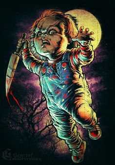 Chucky by Coki Greenway Arte Horror, Horror Art, Horror Posters, Horror Icons, Horror Movie Characters, Horror Movies, Slasher Movies, Chucky Movies, Real Life Horror Stories