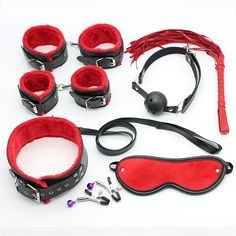7 Piece Set Restraint Bondage Sex Game Sex Toy Slave Game Sexy Womanizer Erotic Toys Handcuff Gag Sex Toys for Couples