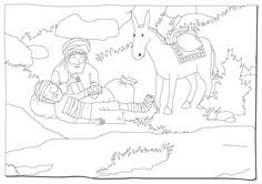 parable of the good samaritan coloring page parable of the good samaritan the good samaritan