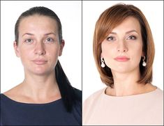 Anna was given a glamorous transformation with a new sleek bob and side partin. Elegant Hairstyles, Bob Hairstyles, Haircut For Big Forehead, Before After Hair, Trendy Mens Haircuts, Sleek Bob, Beauty Makeover, Hair And Beauty Salon, Girl Short Hair