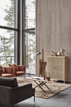 New home with a warm interior / interior design Living Room Inspiration, Interior Design Inspiration, Home Interior Design, Interior Architecture, Luxury Interior, Interior Lighting Design, Japan Interior, Interior Doors, Style Inspiration