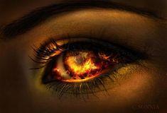 Katie- yeux des feu- J'ai chosi cette photo car c'est dis plusieurs fois que Erik a des yeux de feu. Avec son visage horrible ces yeux sont très efférent. Quand Roaul était dans son chambre il a vue des yeux de feu qui lui regarde. C'était Erik. Ces yeux sont très important et unique. <Des yeux de feu a la place de visage!> (Page 24)