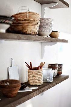 open shelving in kitchen floating shelves