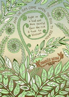 Look at your pain and realise you can change things. Quote by Anais Nin. Artwork by Mike Medaglia on Etsy Pretty Words, Beautiful Words, Cool Words, Art Prints Quotes, Art Quotes, Inspirational Quotes, Quote Art, Nature Quotes, Anais Nin Quotes