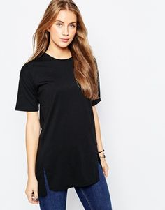 ASOS Oversized Longline T-Shirt With Front Splits