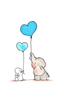 Trendy Ideas For Tattoo Elephant Drawing Nursery Art Cute Easy Drawings, Cute Animal Drawings, Kawaii Drawings, Doodle Drawings, Beautiful Drawings, Disney Drawings, Doodle Art, Drawing Sketches, Drawing Tips