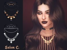 Gypsy Necklace at Salem2342 via Sims 4 Updates Check more at http://sims4updates.net/accessories/gypsy-necklace-at-salem2342/