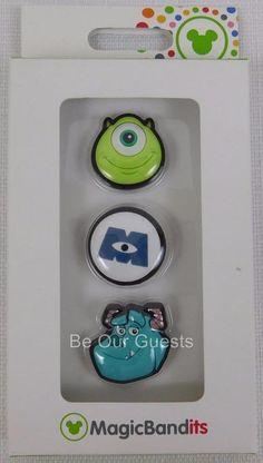 Disney Parks Magic Band Bandits Monsters Inc Wrist Charms Set of 3 New