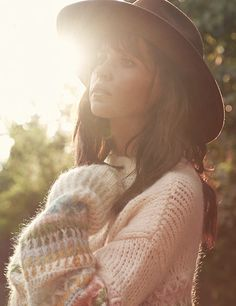 oversized sweater and styled hat