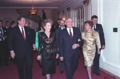 Today is the 84th birthday Mikhail Gorbachev— Images: President Reagan and Soviet General Secretary Gorbachev checking their watches with Pavel Palazchenko while waiting for their wives in the White...