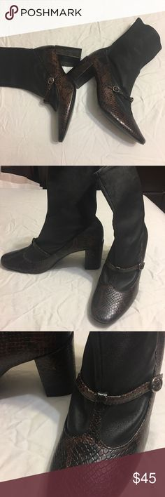 ZARA WOMAN boots New, never used, size 7.5( US), 38( EU), made in SPAIN. Size 7.5 but 6.5 can fit. Zara Shoes Heeled Boots