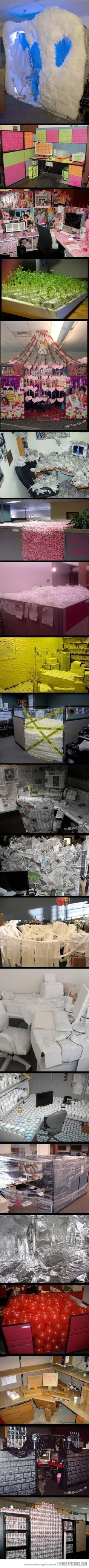 A collection of office pranks. It's a cube life hahaha