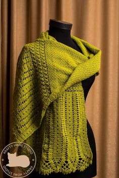 Thread Crochet, Crochet Shawl, Pistachio Color, Bridal Cover Up, Handmade Gifts For Her, Look What I Made, Handmade Scarves, Beautiful Crochet, Shawls And Wraps