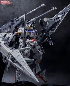 GUNDAM GUY: HG 1/144 Gundam Barbatos + Long Range Transport Booster Kutan Type - Painted Build