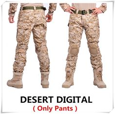 Camouflage tactical military clothing paintball army cargo pants combat trousers multicam militar tactical pants with knee pads