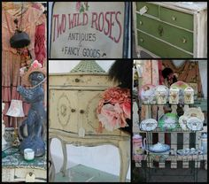 """""""Two Wild Roses"""" is back with their Victorian Cottage Charm, Here are a few photos of some of the treasures they brought to our last show. Welcome back!"""