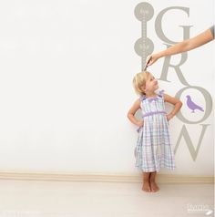 grow chart decal for the wall
