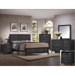 Crown Mark - 5-PC Contemporary Panel Queen Bedroom Set in Black Finish - 59B6810QSET5NS SPECIAL PRICE: $1,048.00