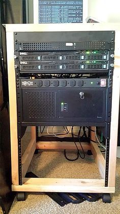 Free Woodworking Plans For An Open Frame Or Enclosed Server Rack Home Small Office I Have A Few Mount Servers That