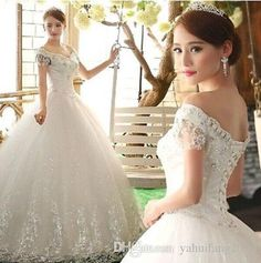 2016 Ball Gown Wedding Dresses Tulle Appliques Sequins Beads Off Shoulder Lace Up Sleeveless Chapel Train Bridal Dresses Gown Custom Made Ball Gown Wedding Dresses 2016 Bridal Dress Custom Made Dresses Gown Online with $251.08/Piece on Yahuifang2016's Store | DHgate.com