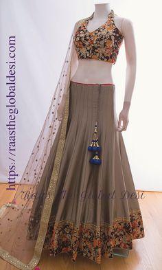 GARBA CHANIYA CHOLI 2019 Latest designer & custom-made Chaniya Choli's exclusively online.Browse our beautiful designer collection ! Available in the USA, Canada & Australia! Lehenga Gown, Party Wear Lehenga, Lehenga Blouse, Bridal Lehenga, Anarkali Dress, Indian Wedding Outfits, Indian Outfits, Indian Clothes, Emo Outfits