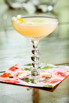 Cameron's Kick: Scotch whisky, Irish whiskey, lemon juice, orgeat, dash of absinthe | Cold Glass