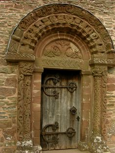 The door... Celtic-influenced Romanesque carvings on the doorway to Kilpeck Church, Herefordshire.