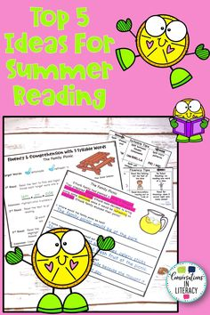 Our Top 5 Ideas for Summer Reading will keep your elementary students reading and learning all summer long! They will especially enjoy #4! Reuse reading passages for summer reading too!