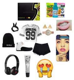 """Don't hate, Appreciate"" by trellashia ❤ liked on Polyvore featuring Mudd, Olivia Burton, TAXI, Boohoo, Wrigley's, Beats by Dr. Dre, Kill Brand and Cowshed"