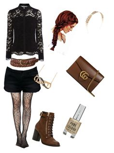 """Brown, Gold & Black"" by greystreaks ❤ liked on Polyvore featuring Wet Seal, Gucci, Uniqlo and Call it SPRING"