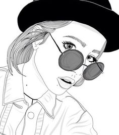 Love... #Girls #b&w #dibujos #bocetos #sunglasses #Blogger