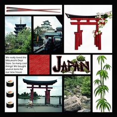 Japan Epcot layout by Carolc; Disney; MouseScrapper.com. Beautiful clean layout.