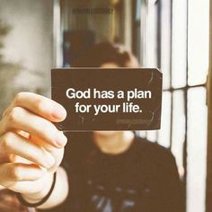 Help me recognize & follow Your plan for my life!