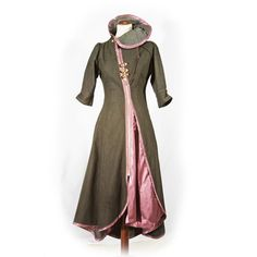 victorian coat: I would change the pink to possibly a lush purple or vibrant green, but other than that the design is elegant.