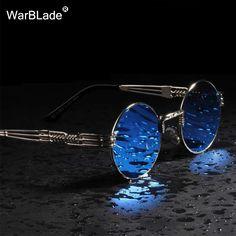 14fcb37583 Find More Sunglasses Information about WarBLade Vintage Round Steampunk  Sunglasses Women Men Steam Punk Gold Eyewear
