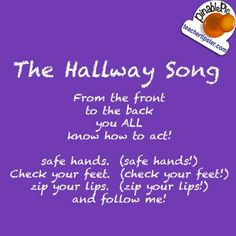 Ready for the Hallway song Transition Songs For Preschool, Preschool Songs, Preschool Lesson Plans, Classroom Chants, Classroom Ideas, Classroom Organization, Free Teaching Resources, Teaching Tips, Classroom Behavior Management