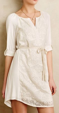 Paperwhites Embroidered Shirtdress Short e9a71964a