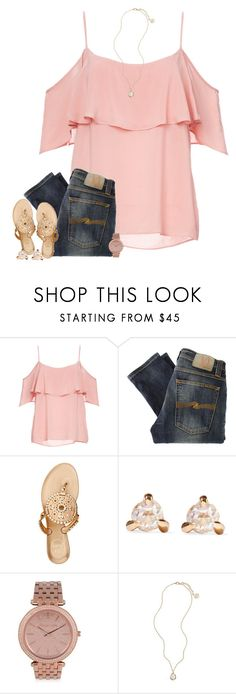 """""""Perfect love drives out fear 💘"""" by preppypetunia ❤ liked on Polyvore featuring BB Dakota, Nudie Jeans Co., Jack Rogers, Catbird, MICHAEL Michael Kors and Kendra Scott"""